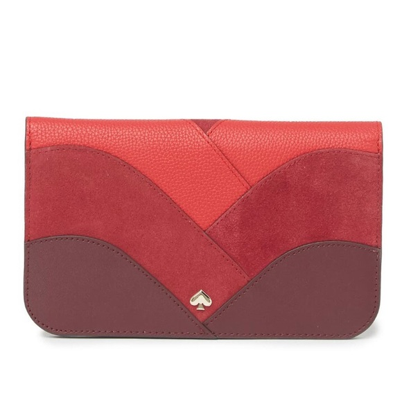 Kate Spade Nadine Leather & Suede Clutch Wallet
